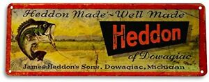 Heddon-Fishing-Lures-Fish-Bait-Marina-Rustic-Fish-Metal-Decor-Sign