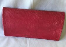 Abro pink leather clutch handbag German design very good condition