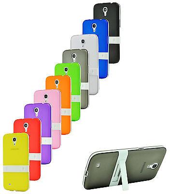 Clear Color TPU Soft Hybrid Case W Stand for Samsung Galaxy Mega 6.3 i9200 i9205