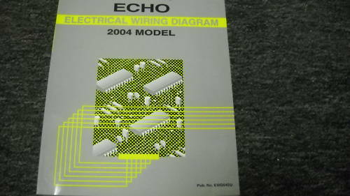 2004 Toyota Echo Electrical Wiring Diagram Troubleshooting