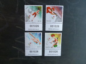 MALTA 2016 RIO OLYMPIC GAMES SET 4 MINT STAMPS MNH