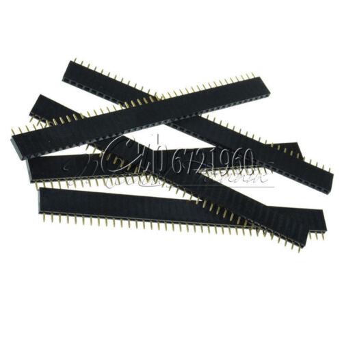 5 x 40pin 2.54mm Single Row Straight Female Header Strip PBC Arduino M