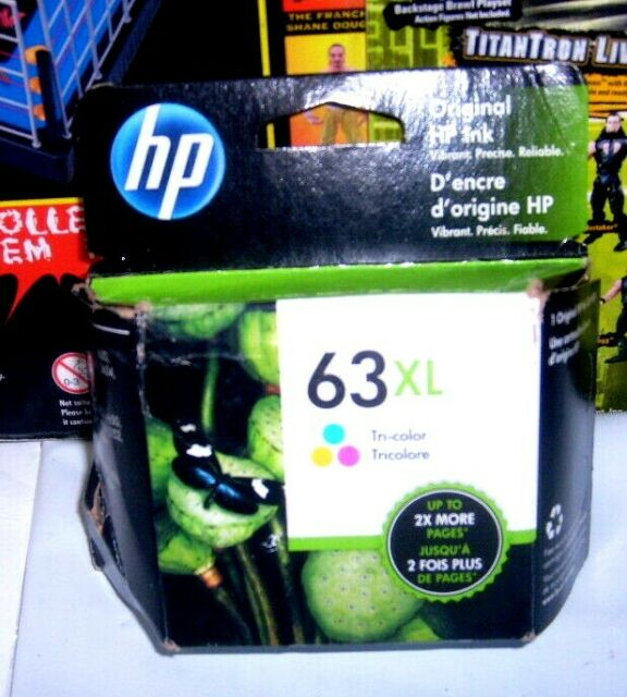 Genuine HP 63XL Tri-color Ink Cartridge EXP. March 2021 New & Sealed free ship