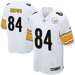 bf33dff9c80 Youth Pittsburgh Steelers Antonio Brown  84 NFL Nike Football White ...
