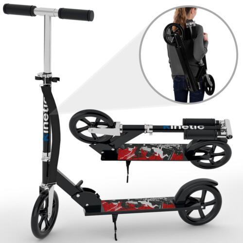 Scooter City Roller tretroller ROLLER pieghevole ruote XXL fino a 75kg NERO-BLU