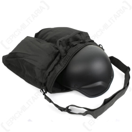 US Helmet Bag with Carrying Strap Black Padded Pouch Shoulder Strap NEW