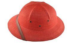 MM Summer 100% Straw Pith Helmet Postman Hat Red