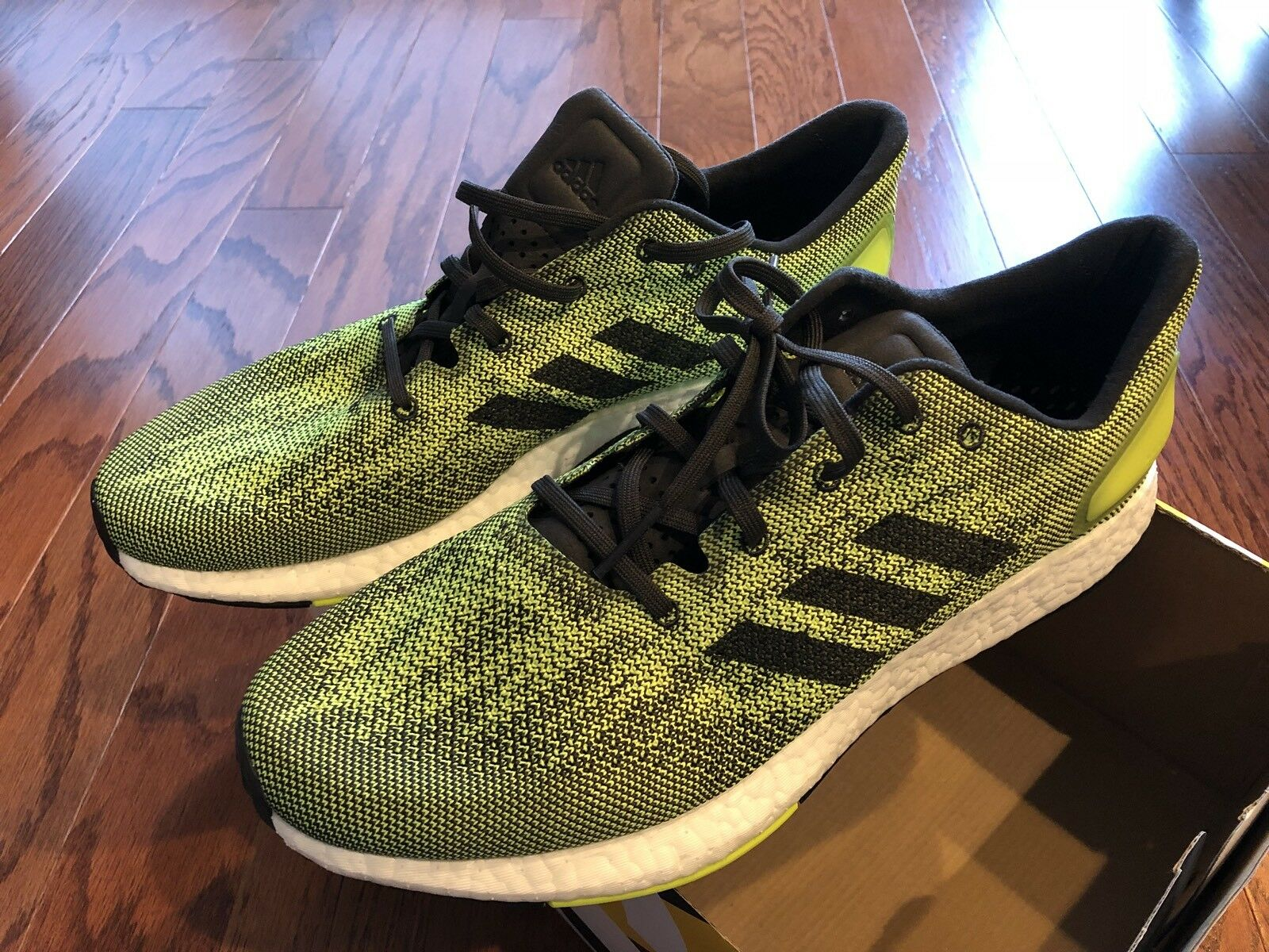 New adidas PureBoost Box DPR  Men's size 11. with Box PureBoost Lime Green 4edaa9