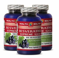 Male Enlargement - Resveratrol Supreme 1200 Pure - Weight Loss Pills 3 Bottles