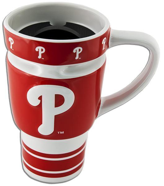 MLB Philadelphia Phillies Sculpted Travel Coffee Mug 12 fl oz Boelter Brands