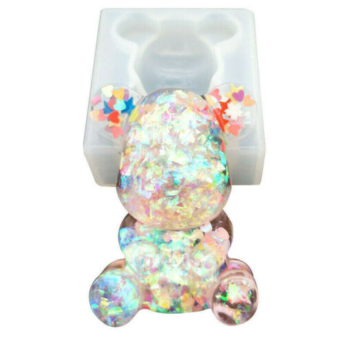 Silicone Mould 3D Teddy Bear DIY Resin Epoxy jewelry Pendant Mold Making tool