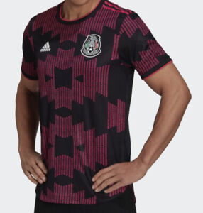 Adidas Mexico Home Jersey 2021 Authentic Player Version Black Size ...