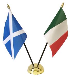 European Union /& Slovakia Double Friendship Table Flag Set