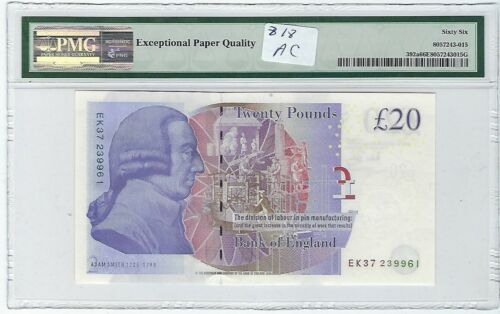 Great Britain 2006 20 Pounds P392a PMG 66 EPQ