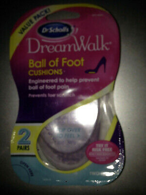 Household Supplies & Cleaning Scholl's Womens Dreamwalk Ball Of Foot Cushions Pain 2 Pairs Fast Freepost Dr