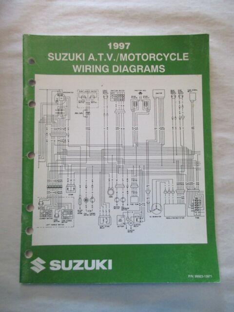 1997 Suzuki Atv    Motorcycle Wiring Diagrams Manual Pn