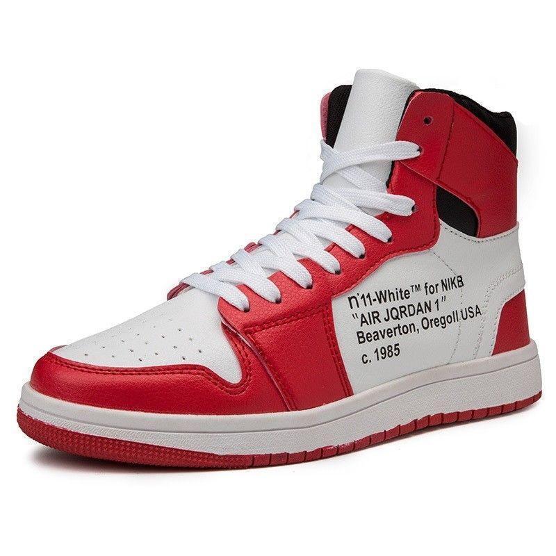 Uomini cuoio atletici scarpe da basket cuoio Uomini respirabile hi - top outdoor casual. 227363