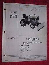 SEARS SS/16 GARDEN TRACTOR DOZER BLADE OPERATORS - MAINTENANCE - PARTS MANUAL