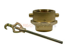 Brass Swivel Adapter Combo 2 12 Nstf X 2 12 Nstm Withhydrant Wrench