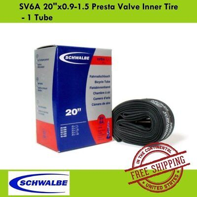 "1 Tube Schwalbe SV11A 26/""x0.75-600x23C Presta Valve MTB Bike Inner Tire"