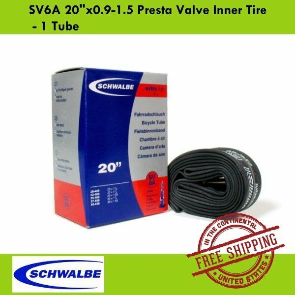 Schwalbe SV7A 28//37-438//451 Presta French Folding Bike Inner Tube Tire Tyre