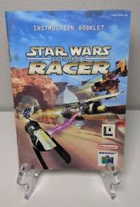 Star Wars Episode 1 Racer Nintendo N64 Instruction Booklet Manual Only (no game)