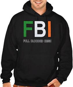 Patrick/'s Day Clover Sweater Men/'s Shredded Irish Flag Black Hoodie Ireland St
