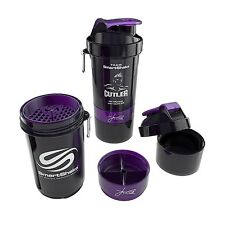 Jay Cutler SmartShake Protein Shaker Mixer Bottle Cup LARGE 27 oz NEON BLACK