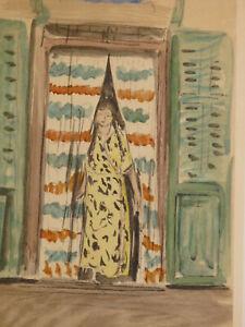 MotivéE Henri Baptiste Lebasque (1865-1937) Estampe Originale Portrait Femme Orientalism