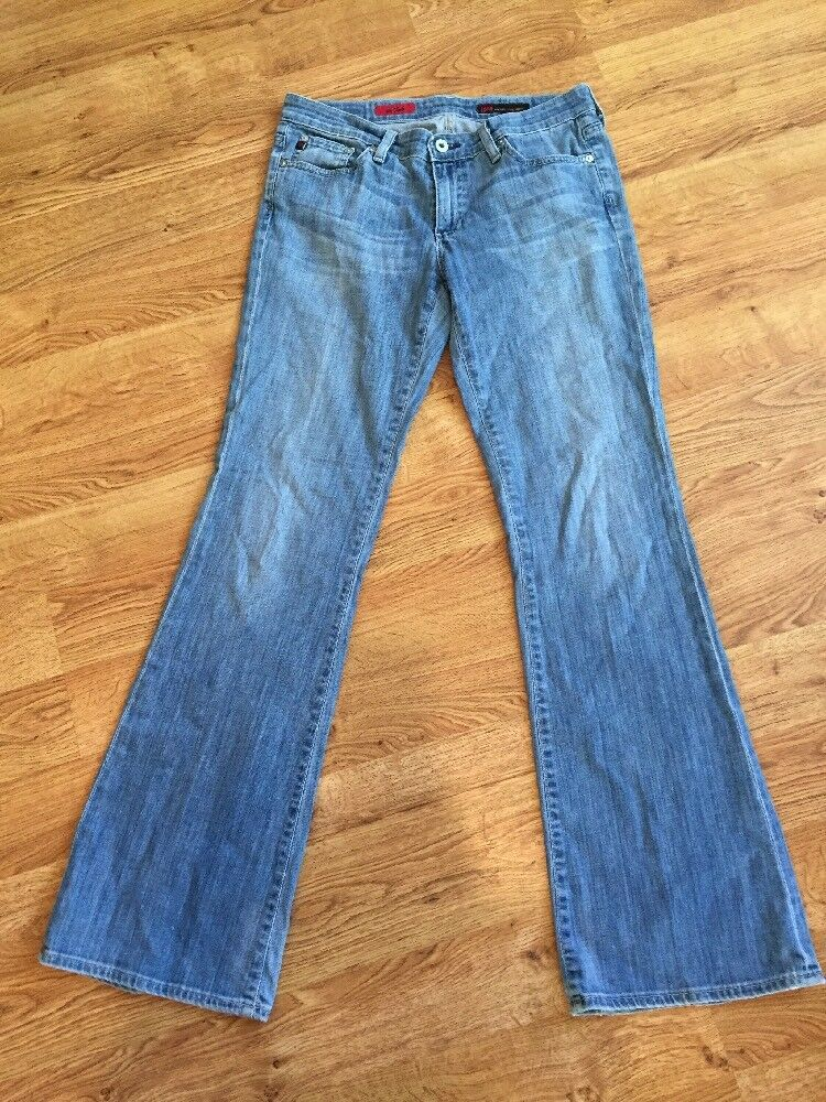 AG Adriano goldschmied Light Wash Flared Leg Low Rise The Club Jeans Sz 29