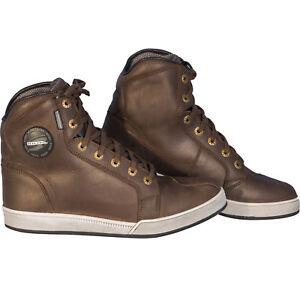 Richa-Krazy-Horse-Leather-Motorcycle-Motorbike-Waterproof-Hi-Top-Boots-Brown