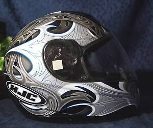 Nice Black Gray Blue White HJC PARADOX CS-R1 Full Face Motorcycle Helmet Sz XS