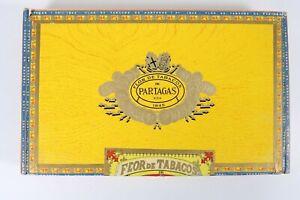 VINTAGE-PARTAGAS-Flor-De-Tabacos-1845-IN-LEGNO-VUOTA-Tabacco-Cigar-Box