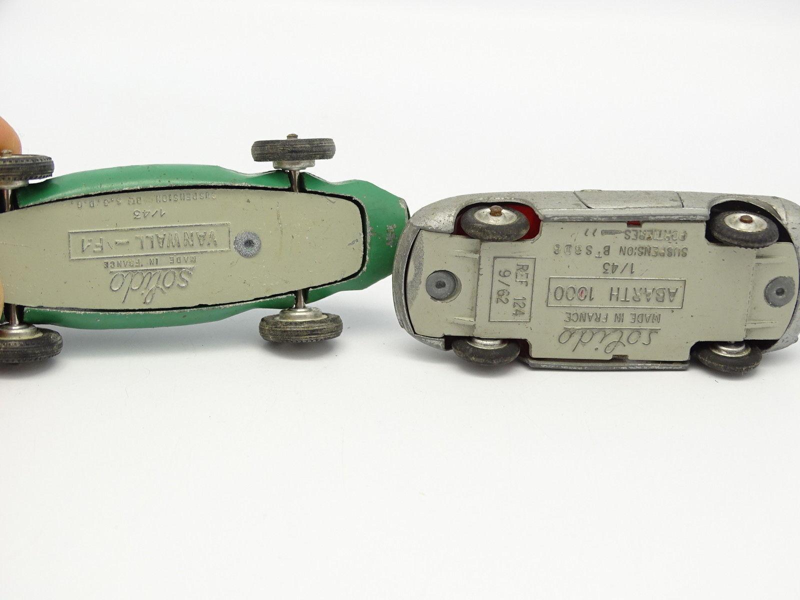 Solido SB 1 43 43 43 - Lote de 2   Vanwall F1 + Abarth 1000 b61999