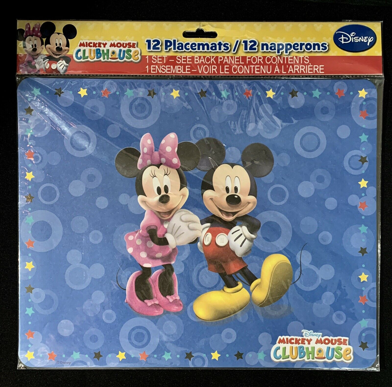 Lot of 12 Disney MICKEY /& MINNIE Mouse Clubhouse disposable paper placemats-NEW