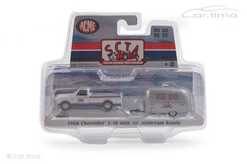 Chevrolet c-10 con Airstream Bambi roulotte scta Acme 1:64 gl-51339