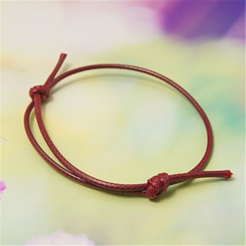 50 Strand réglable Corée Coton Cire Cordon Bracelet Finding Making Craft 40 ~ 70 mm