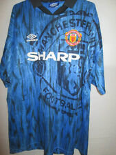 Manchester United Red Devils 1992-1993 Away Football Shirt Size XL /34950