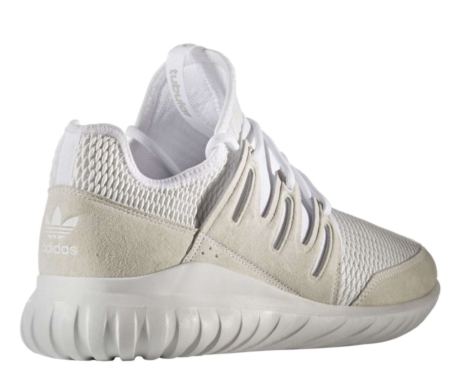 Adidas Uomo light Tubular Radial (white / footwear white / light Uomo solid grey) f0d31e
