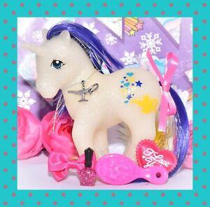 My-Little-Pony-MLP-Vtg-G1-Style-HQG1C-Unicorn-Genie-Custom-Glitter-Island