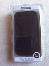 Wireless Gear Triple Play Black Hardcase for iPhone 4 & 4s ~ Free Shipping