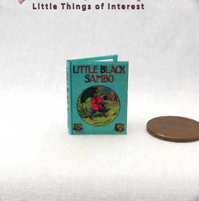 Little Black Sambo Casa Delle Bambole Miniatura Libro 1:12 Scala Illustrato Profitto Piccolo