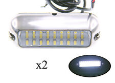 "Pactrade Marine 2 Boat Pontoon  S.S.316 White 27 LED Underwater Light 3 3/4"" L"