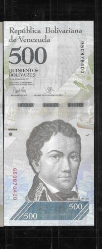 VENEZUELA  2017 500 BOLIVARES UNC AAA BANKNOTE PAPER MONEY CURRENCY BILL NOTE