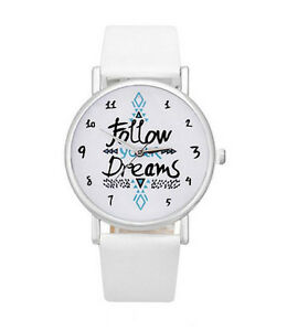 HORSE-amp-WESTERN-JEWELLERY-JEWELRY-FOLLOW-YOUR-DREAMS-AZTEC-PATTERN-WATCH-WHITE