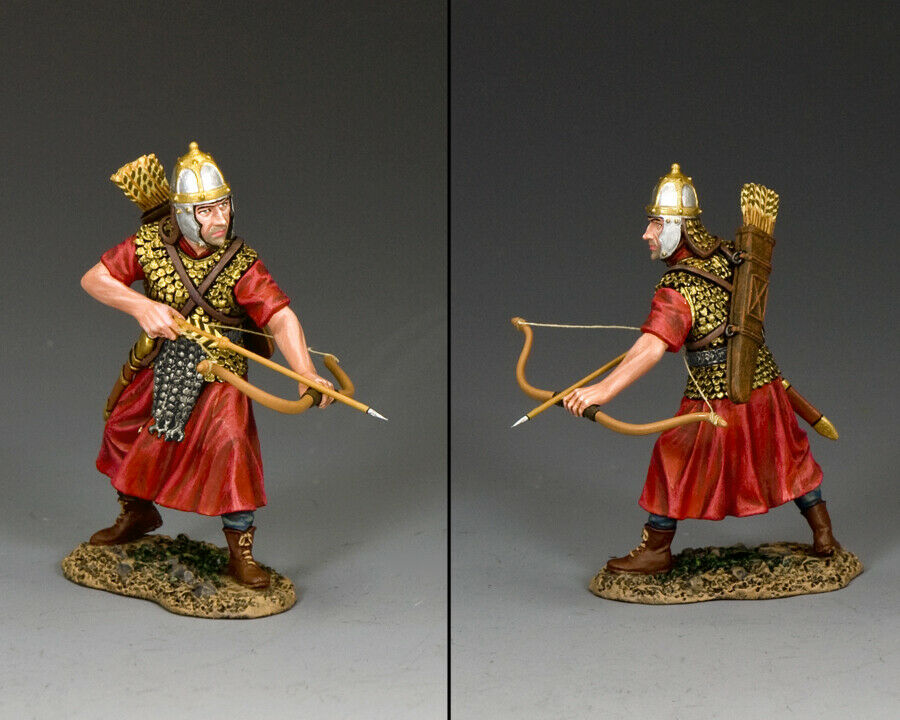 KING & COUNTRY ROMAN EMPIRE ROM019 ROMAN LEGIONARY ARCHER PREARING TO FIRE MIB