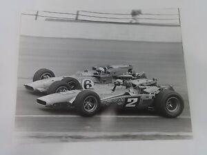 "1969 Mario Andretti Brawner Hawk & A. J. Foyt Indianapolis 500 Photo 16"" x 20"""