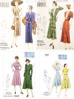 Vogue Sewing Pattern Vintage Retro 1930s-1940s Arrow-head Detailed Dresses