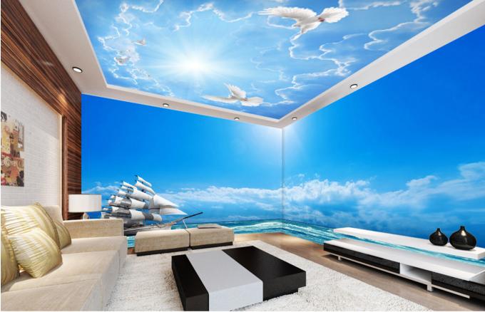 3D Pigeon Sunshine 7 Ceiling WallPaper Murals Wall Print Decal Deco AJ WALLPAPER