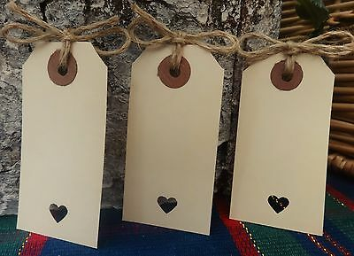 50 Vintage Rustic Cream Luggage Tags Wedding Favour Place Card Wish Tree twine